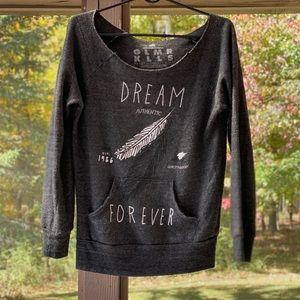Glamour Kills Scoopneck Pocket Sweatshirt